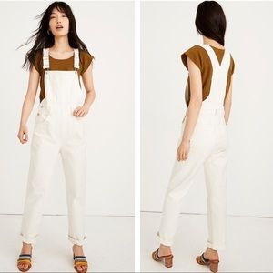 Madewell Tall Straight-Leg Overalls in Tile White